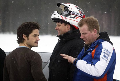 Prince Carl at the Porsche Carrera Cup