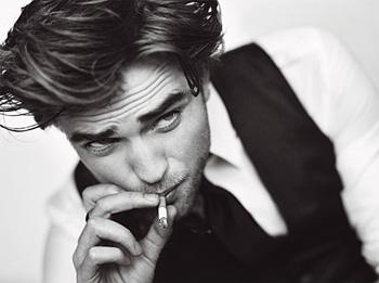 Robert Pattinson with a Cigarette