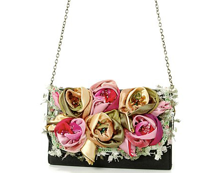 Beautiful Handbag with Roses