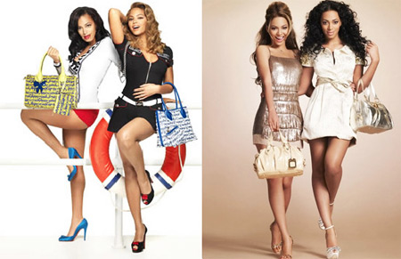 Beyonce and Solange Knowles for Samantha Thavasa Bags