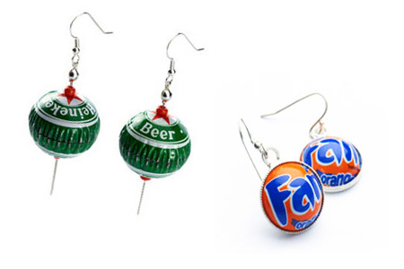 Bottle Caps Earrings