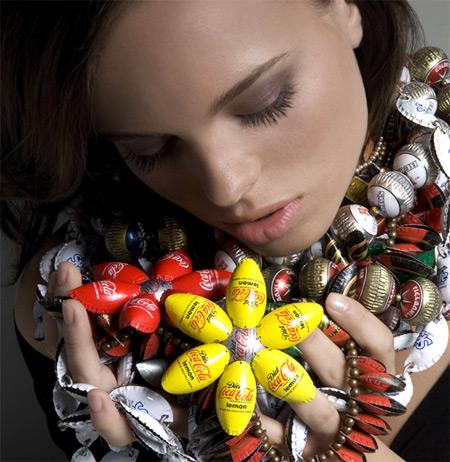 Bottle Caps Jewelry  by Yoav Kotik