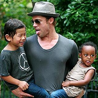 Brad with Kids