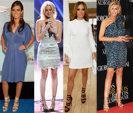 Celebrities Wearing Christian Louboutin Differa 140 Sandals