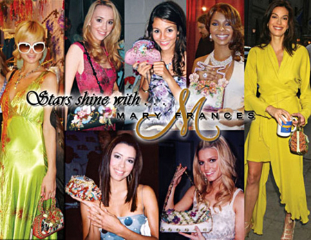 Celebrities with Mary Frances Handbags