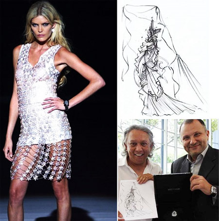 Designer with Diamond Dress Esquisse