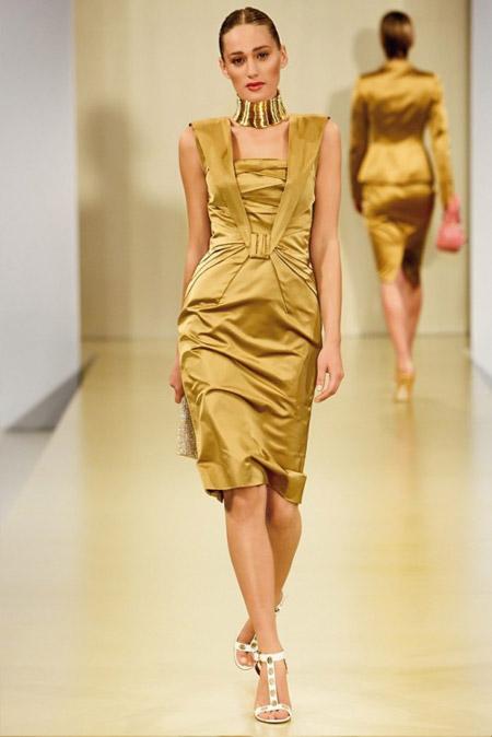 Escada Golden Dress