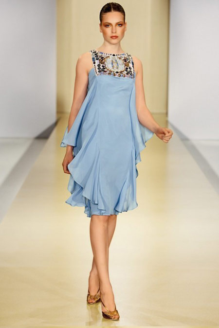 Escada Light Blue Dress