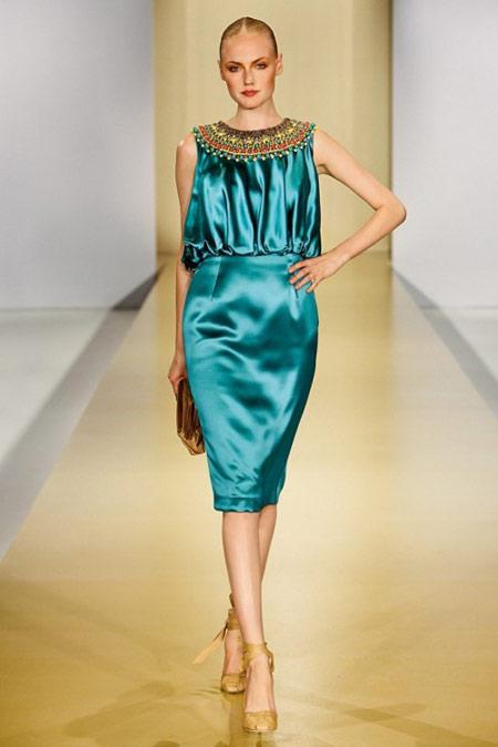 Escada Turquoise Dress