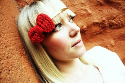 Hair Band with Red Bow