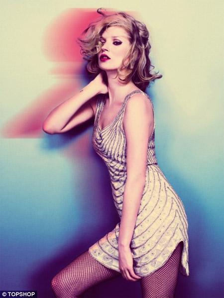 Kate Moss Wearing Mini Dress