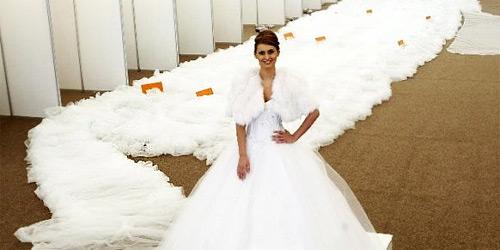 Longest Wedding Gown Train