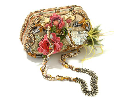 Mary Frances Clutch with Red Flowers