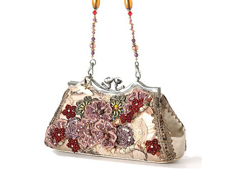 Mary Frances Pink Flowers Bag
