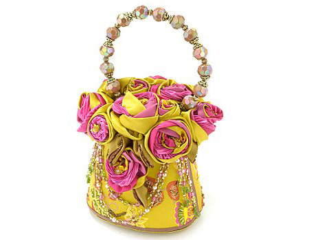 Mary Frances Yellow Roses Bag