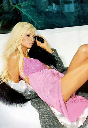 Paris Hilton with Phone