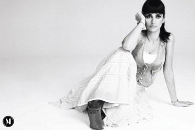 Penelope Cruz for Mango Black and White Ad