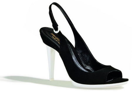 Sergio Rossi Black and White High Heel Sandals