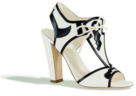 Sergio Rossi Black and White Sandals