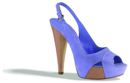Sergio Rossi Blue Suede Shoes