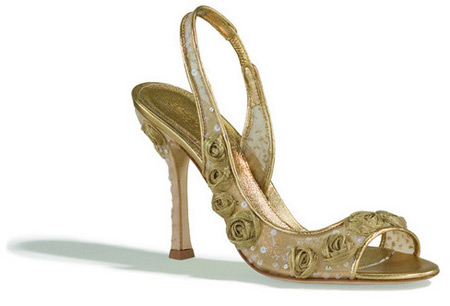 Sergio Rossi Golden Rose Sandals