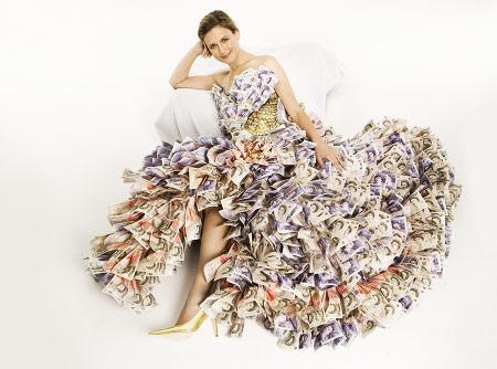 Wearing Million Dress
