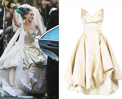 vivienne westwood wedding dress sex and the city movie. Sex and the City Wedding Gown
