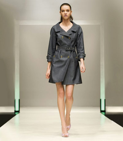 Benetton Dark Grey Coat