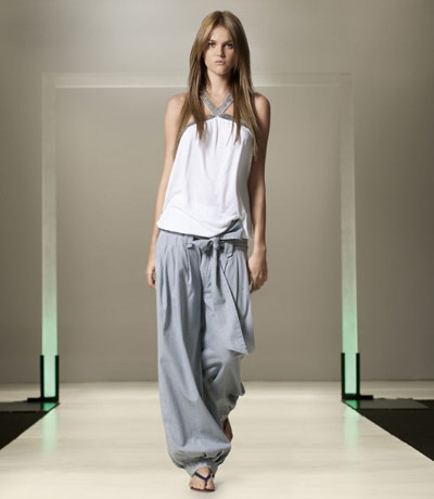 Benetton Grey Pants