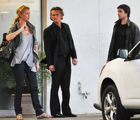 Charlize Theron, Sean Penn and Stuart Townsend