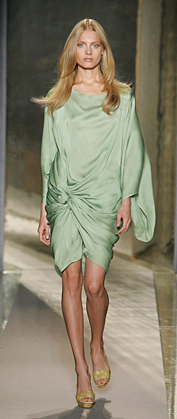Donna Karan Blue Drapped Dress