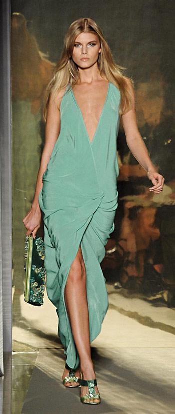Donna Karan Blue Gown
