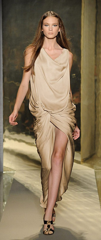 Donna Karan Gold Silk Dress