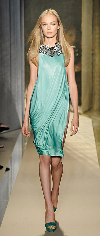 Donna Karan Turquoise Dress