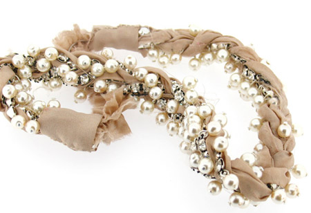 Fashionable Pearls Headband