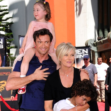Hugh Jackman and Deborah-Lee Furness with Kids