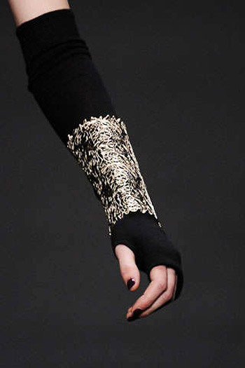 Karl Lagerfeld Fabric and Metal Cuffs