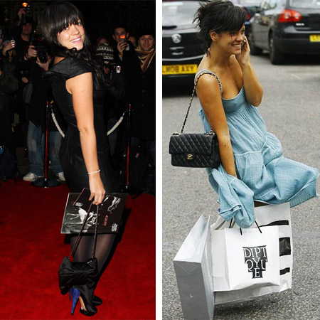 lily allen chanel. Lily Allen with Chanel Bags