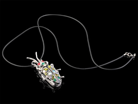 Jewel Bug Flash Drive Necklace