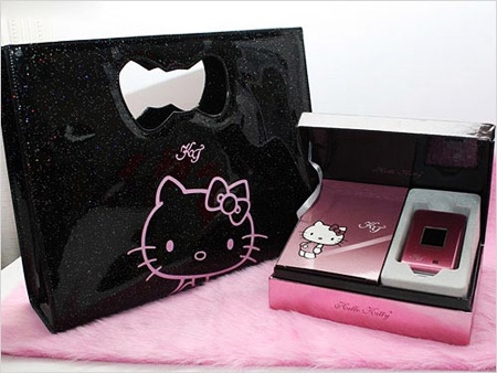 Pink Kitty Cell Phone