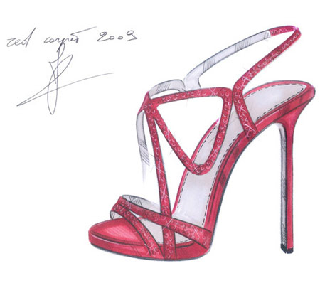 Sergio Rossi Cannes Festival 2009 Shoes Design