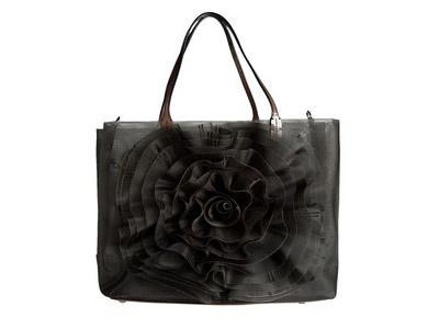 Valentino Black Rose Bag