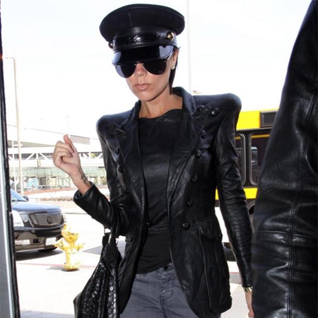 Victoria Beckham in Airport
