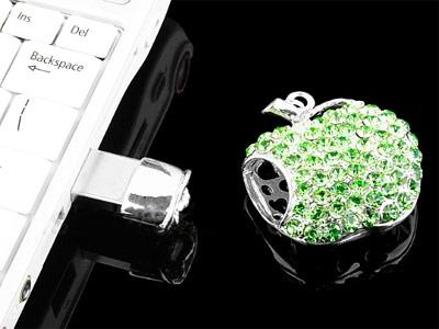 Green Apple Flash Drive