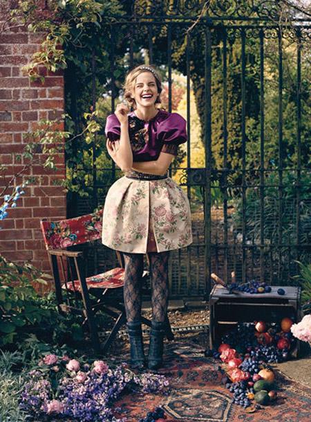 Laughing Emma Watson