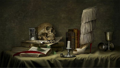 Christian Louboutin Shoe and Skull