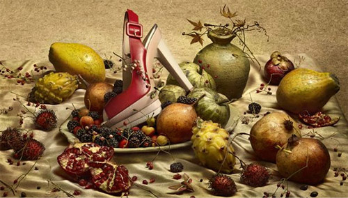 Christian Louboutin Shoes and Fruits