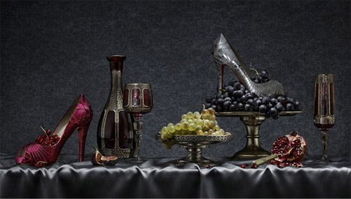 Christian Louboutin Shoes and Grapes