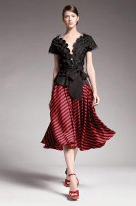 donna-karan-black-and-bright-scarlett-skirt