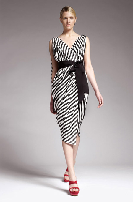 Donna Karan Black and White Dress